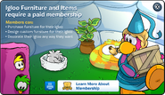 Igloo Furniture Membership Error
