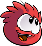 Red Puffle Confident