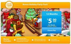 Bonus holiday party pack