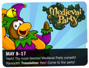 Medieval Party 2009 ad