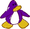 Doodle Dimension penguin Dark Purple