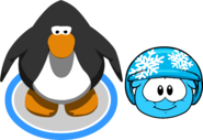 Puffle Hats snowflakehelmet in game