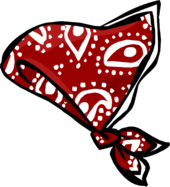 Red Paisley Bandana icon