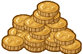 Spilled coins template image 1