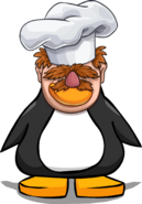 Swedish Chef Head from a Player Card