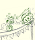 Green Puffle Sketch card image