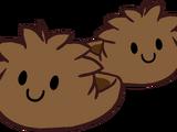 Pantuflas de Puffle Café