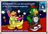 Vip penguin postcard
