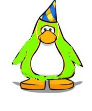 Penguin with pary hat