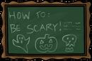 School chalkboard hallo tue