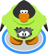 Black Pixel Puffle Tee in-game