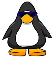 Blue Sunglasses from a Player Card