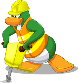 Penguin Style July 2013 construction worker