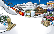 Puffle Party 2009 construction Ski Village