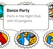 Dance party stamp book