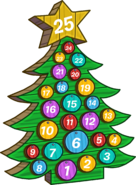 2015 Advent Calendar Snow Forts tree