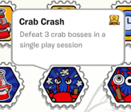 Crab crash stamp book