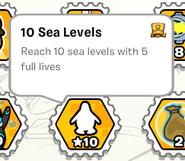 10 sea levels stamp book