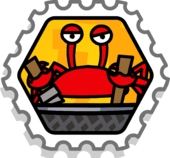 Crab Attack stamp