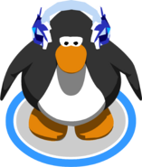 Crystal Puffle Earmuffs in-game
