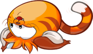 Cat Puffle Rolling around