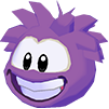 Purple puffle 3d icon