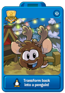 Reindeer Puffle Player Card