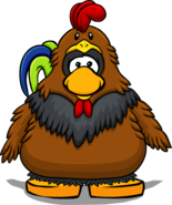 Rooster Costume from a Player Card