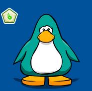 Club Penguin - Pin de puffito verde