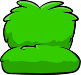 Fuzzy green couch