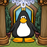 Puffle Hotel background on a Player Card