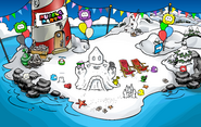 Puffle Party 2010 Beach