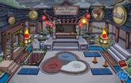 Black Puffle in The Great Storm of 2009 Ninja Hideout