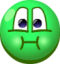 Emoticón Clásico de cara enferma