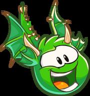 Green Puffle Dragon