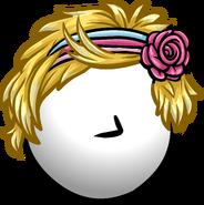 Peinado con Banda y Flor icono anterior