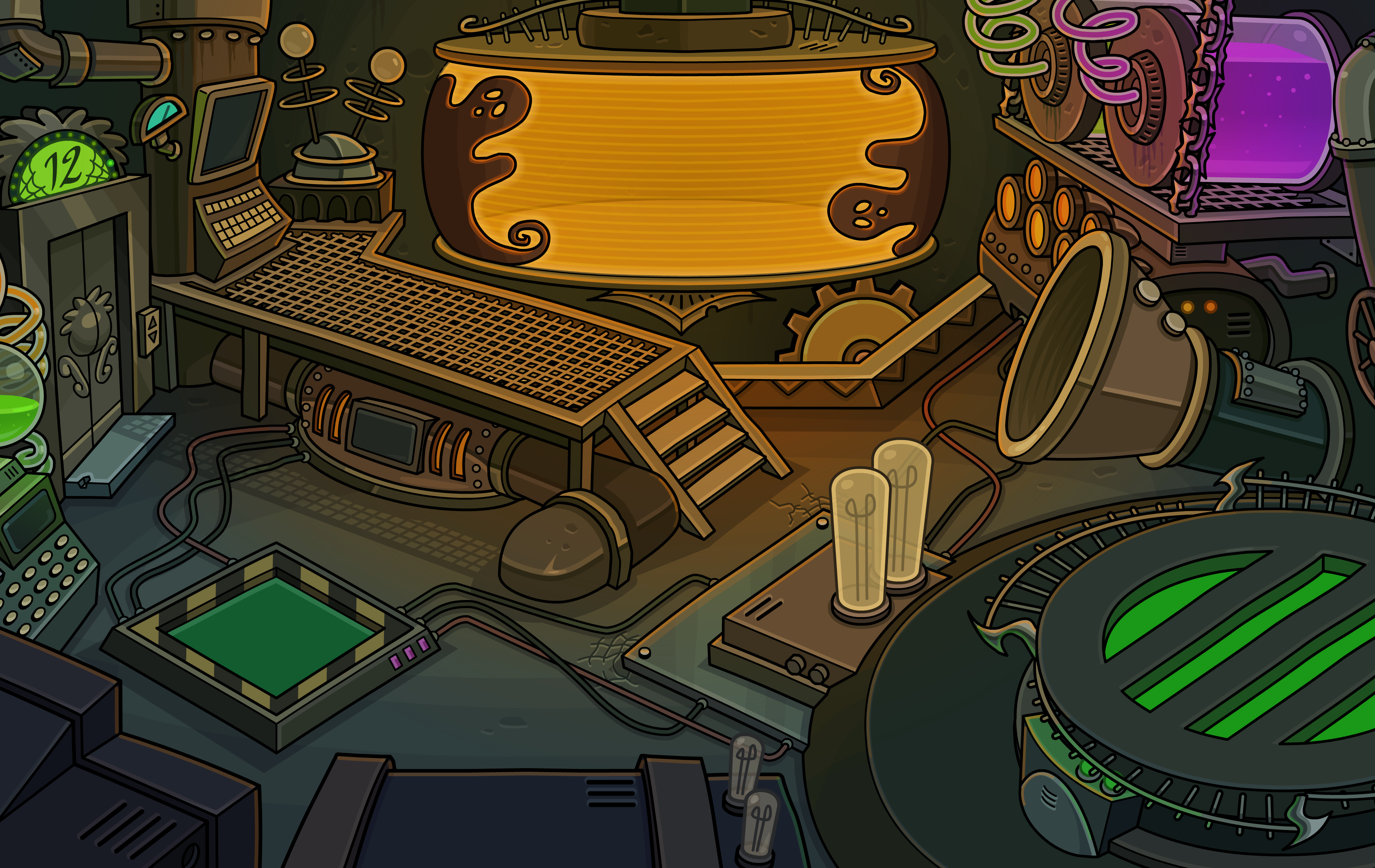 image - halloween party 2014 puffle hotel storage 2 | club