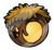 Pin de Casa del Árbol Silverstre Pufflística logo
