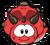 Tricerapuffle rojo
