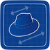 Blueprint pressHat icon