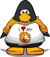 I Heart My Orange Puffle T-Shirt PC
