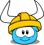 Gold Viking Helmet (Puffle Hat) in Puffle Interface
