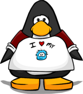 I Love My Puffle T-Shirt on a Player Card