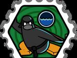 Water Ninja stamp (Card-Jitsu Snow)