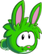 Puffle green1012 paper