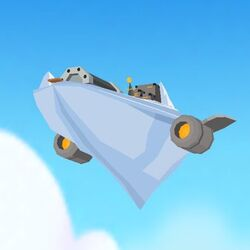 Iceberg Base Aunt Arctic's Adventures flying