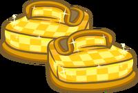 Zapatos a Cuadros Dorados icono
