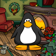 Cozy Fireplace Background on a Player Card