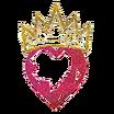 Calcomanía Corazón Coronado