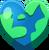 Corazón de tierra Emoticón